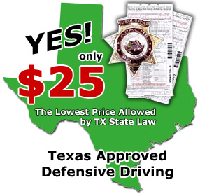 Texas Defensive Driving programs for the lowest price!